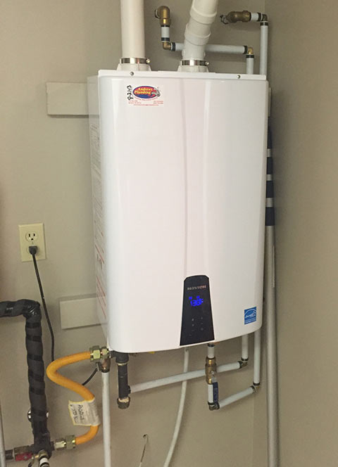 Tankless Water Heater Installation.